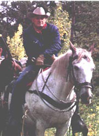 Roland on Horse Rocky