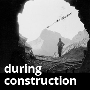 Glacier Park Ptarmagan Tunnel During Construction
